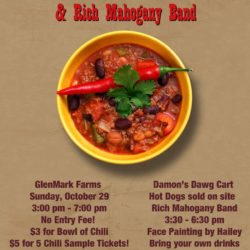 Sunday, October 29th, 2017 – Chili Cook-Off