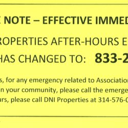 After Hours Emergency Phone Number Change